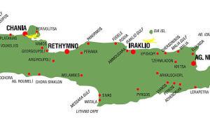 Карта Крита