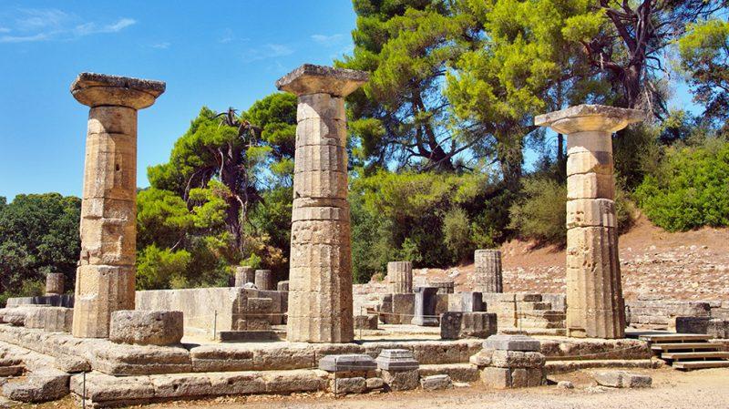 Древняя Олимпия на полуострове Пелопоннес