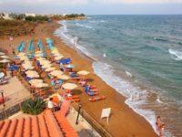 Пляж отеля Агелия Бич 4* в Ретимно