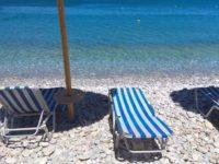 Галечный пляж, отель Элунда Орама