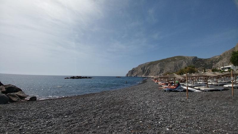 Пляж Камари о. Санторини