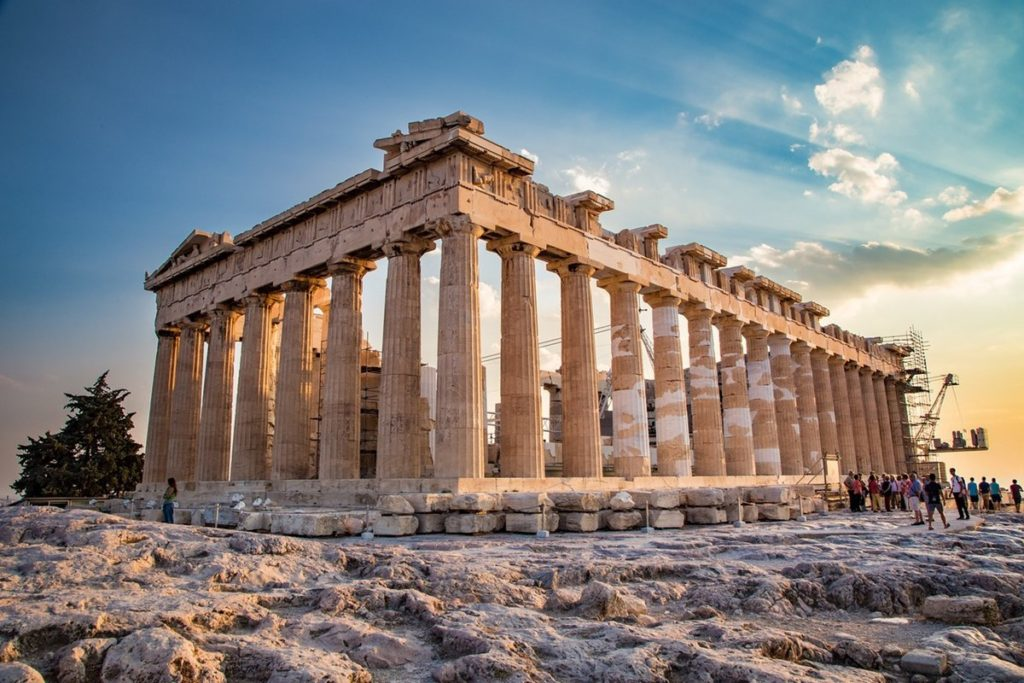 Храм Богини Афины в Акрополе в наши дни