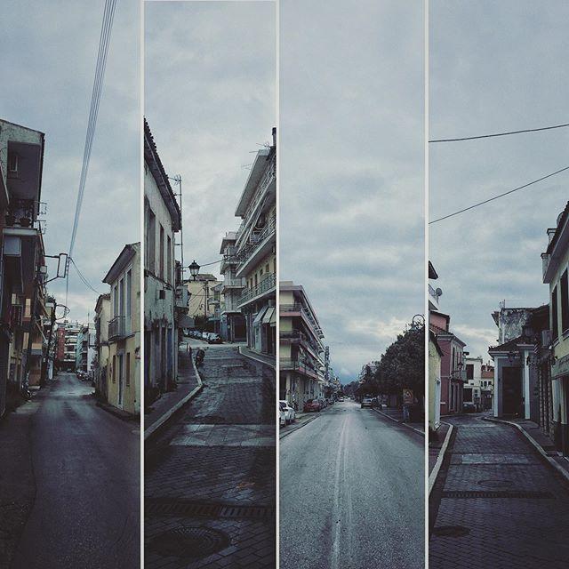 Коронавирус в Греции, пустые улицы города Превеза